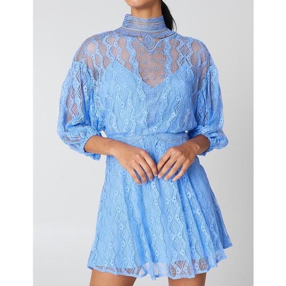 Free People Dresses & Skirts - Free People Boardwalk Blue Bittersweet Mini Dress